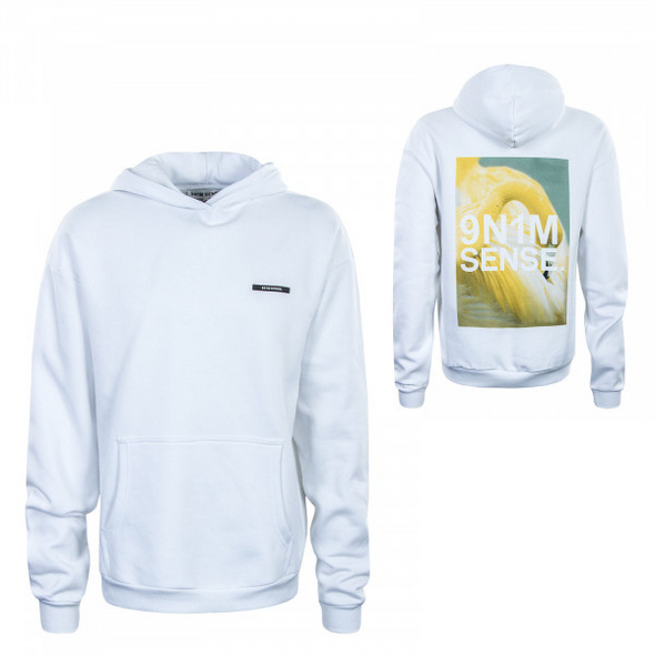 Herren Hoody - Yellow Flamingo - White