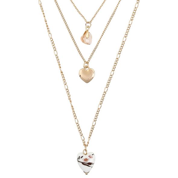 Layering Kette - Brilliant Hearts