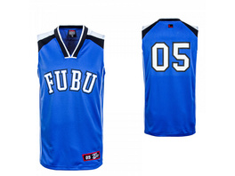 Herren Tank Top - Fubu College Mesh Tank - Blue / White / Black