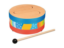 Goki 61888 - Schlitztrommel, Holz-Trommel, Musikinstrument, Holz